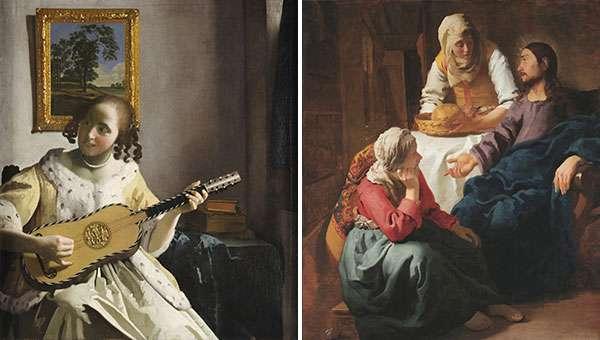 Suonatrice di chitarra, Cristo in casa di Marta e Maria