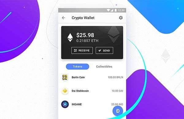 Opera su Android con wallet per criptovalute