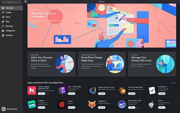 Microsoft Office 365 su Mac App Store