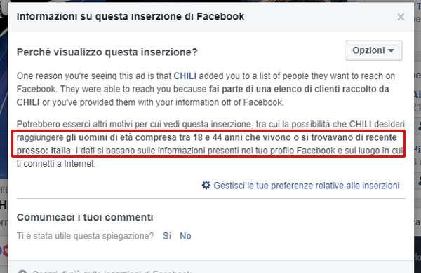 Facebook e l'advertising