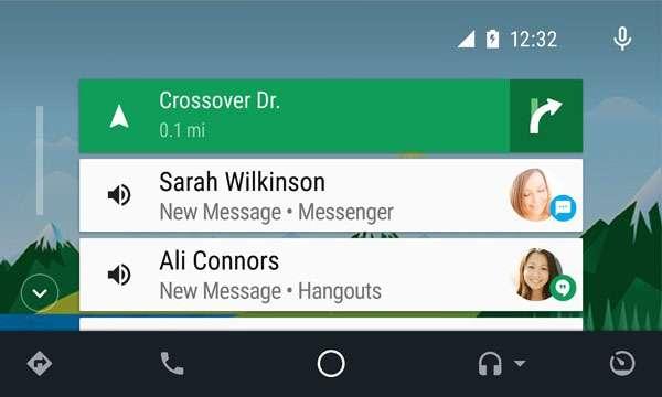 L'attuale interfaccia di Android Auto