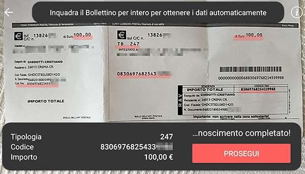 Satispay: il pagamento di un bollettino