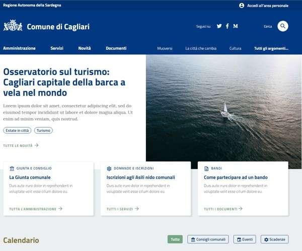 Comune di Cagliari - Prototipo del nuovo sito Web