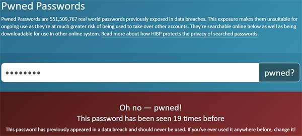 La password è stata oggetto di violazioni e leak