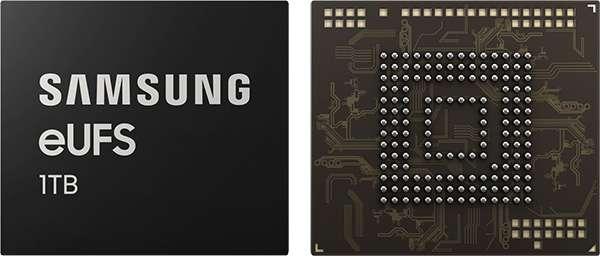 Samsung: memoria eUFS da 1 TB per gli smartphone