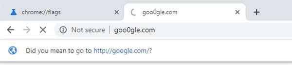 Chrome e l'avviso per gli URL ingannevoli