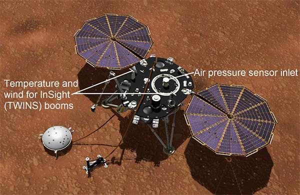 I sensori portati su Marte da InSight per la valutazione delle condizioni meteo sul pianeta rosso