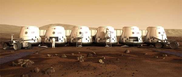L'insediamento umano su Marte immaginato da Mars One