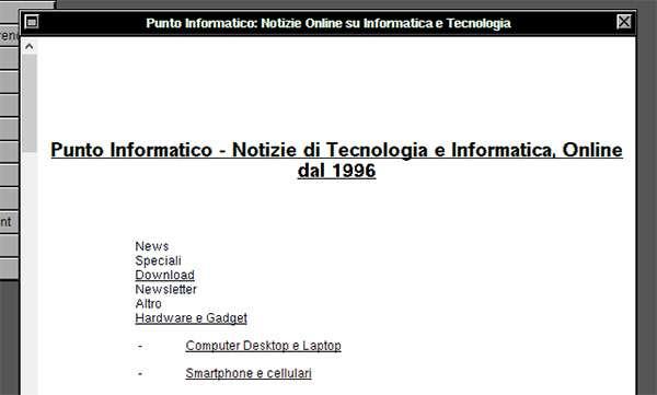 Come avremmo visto Punto Informatico nel 1990, con il browser WorldWideWeb del CERN