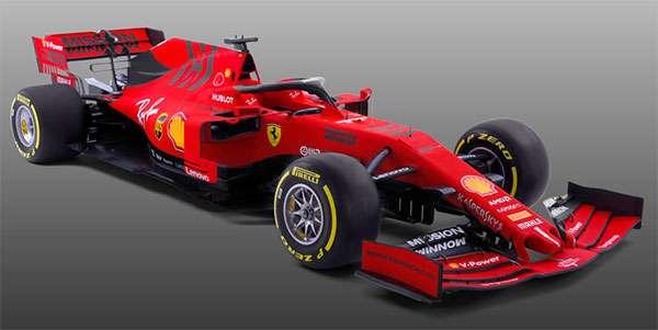 La monoposto Ferrari SF90 che scenderà in pista nel campionato di Formula 1
