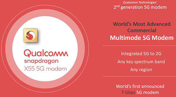 Snapdragon X55, modem 5G di seconda generazione da Qualcomm