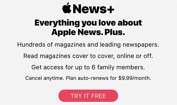 Lo sviluppatore Dave DeLong mette in luce la non conformità alle regole di App Store da parte della schermata per la sottoscrizione dell'abbonamento al servizio News+