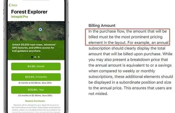 Le linee guida di Apple relative ai servizi offerti in abbonamento