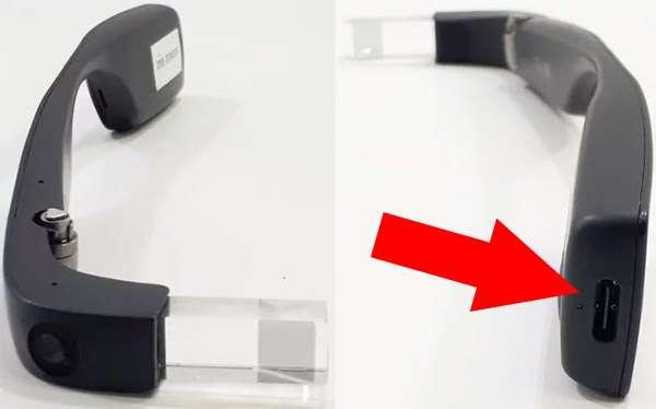 La porta USB-C presente sulla seconda generazione di Google Glass