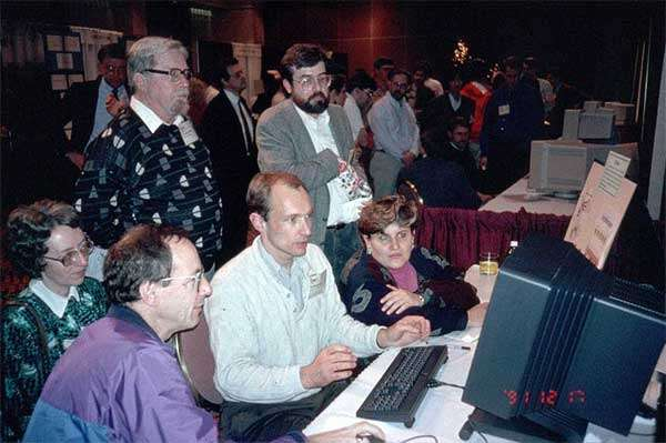 Tim Berners-Lee nel dicembre 1991