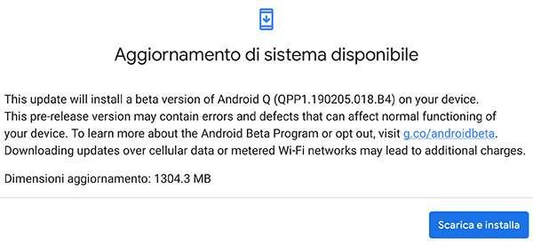 Google ha rilasciato la Beta 1 del sistema operativo Android Q