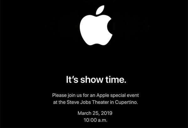L'invito di Apple per l'evento del 25 marzo