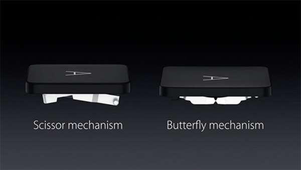 Il meccanismo Butterfly delle tastiere presenti nei MacBook a confronto con quello Scissor più tradizionale