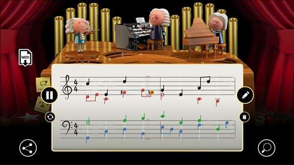 Il Google Doodle con l'IA per Bach