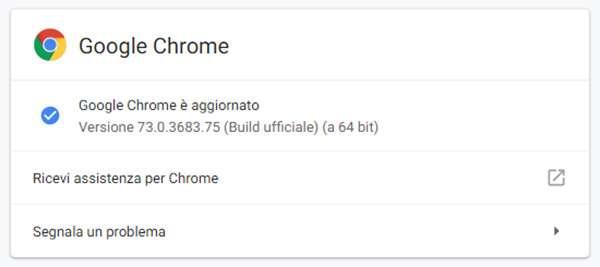 Il browser Chrome di Google si aggiorna alla versione 73