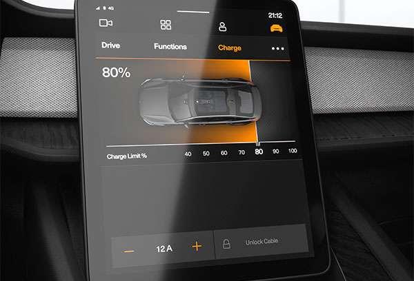 La dashboard di Polestar 2 basata su Android Auto
