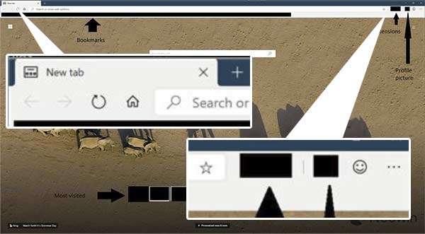 Il nuovo browser Edge di Microsoft, immagine leak