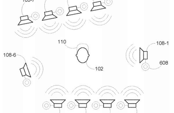 Lo schema che descrive il sistema audio brevettato da Harman