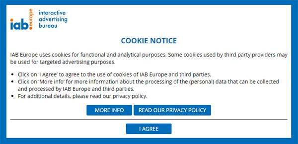 La homepage del sito IAB Europe