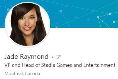 Il profilo di Jade Raymond su LinkedIn
