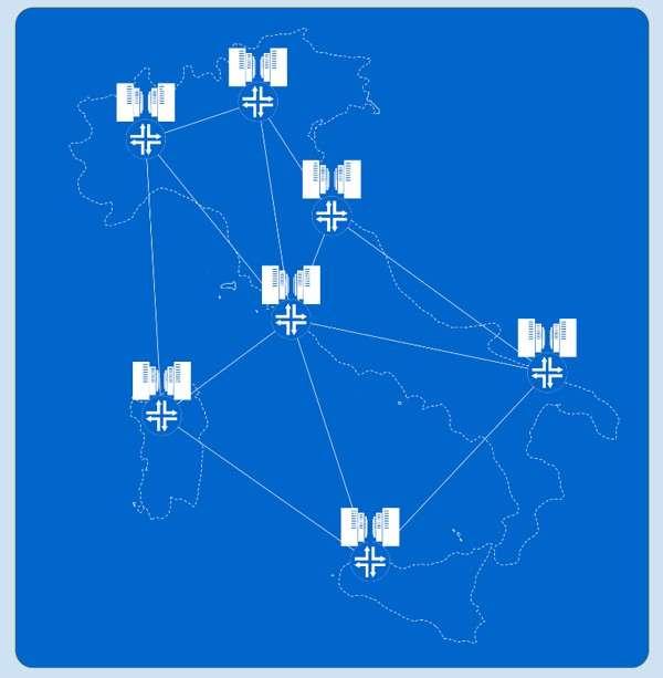 Mappa ipotetica dei data center per la PA sul territorio nazionale