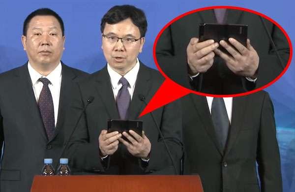 Un Mate X alla conferenza di Huawei