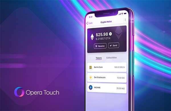 Opera Touch, il browser mobile con wallet per criptovalute