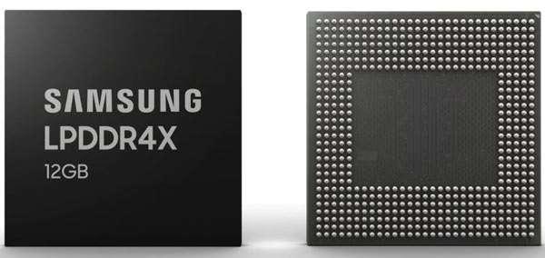 Samsung 12GB LPDDR4X, modulo RAM per gli smartphone