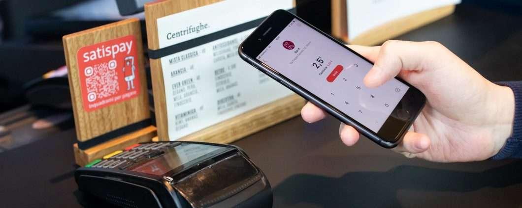Pagamenti da smartphone in negozio: domina Satispay