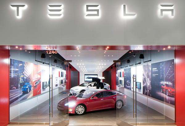 Uno degli store Tesla