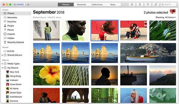 La versione macOS del software Foto