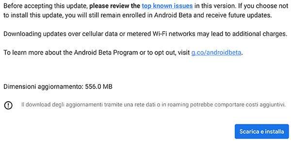Android Q Beta 2: download e installazione