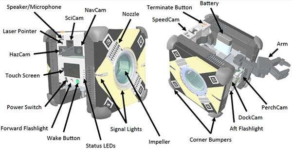 Il robot-drone Astrobee della NASA inviato sulla Stazione Spaziale Internazionale