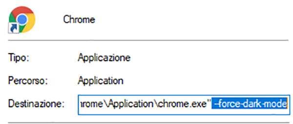 Come forzare la Dark Mode di Chrome su Windows