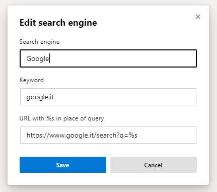 Come impostare Google su Edge