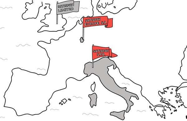 Come è strutturata l'attività di Satispay in Europa
