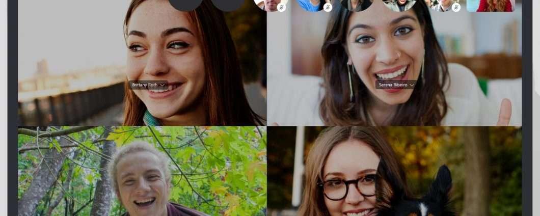 Su Skype, chiamate di gruppo con 50 partecipanti