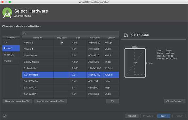 Android Studio 3.5, canary release