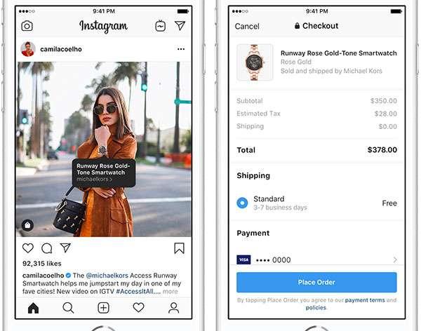 Lo shopping diretto dagli account Instagram
