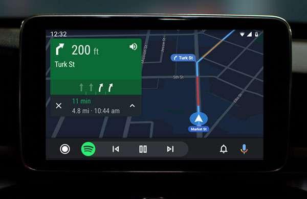 Il nuovo look di Android Auto