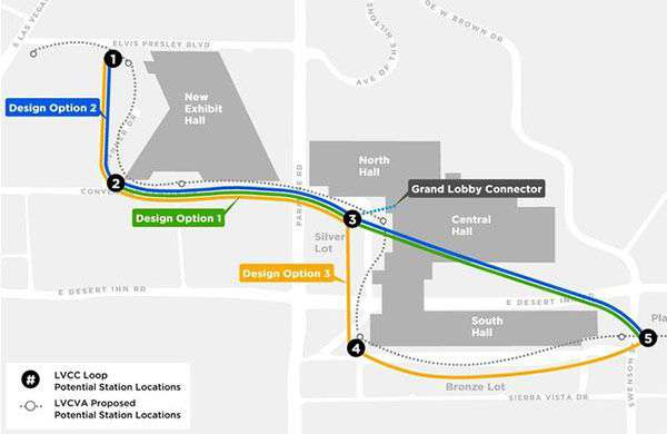 La mappa del tunnel di The Boring Company a Las Vegas