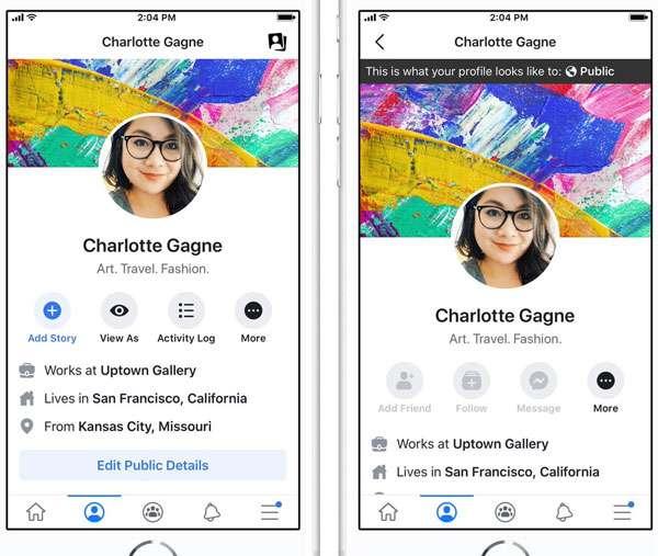 Facebook: torna la funzionalità Visualizza Come