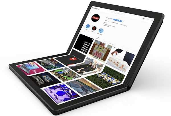 Il modello ThinkPad X1 di Lenovo che si piega