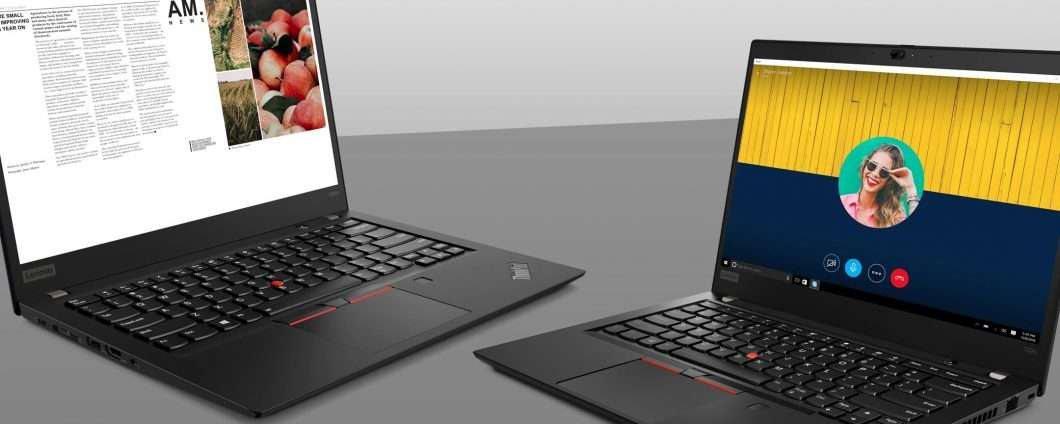 Lenovo ThinkPad T495, T495s e X395 con Ryzen Pro