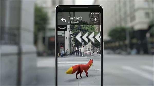 Google Maps: realtà aumentata e volpi per strada